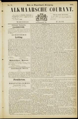 Alkmaarsche Courant 1891-06-17