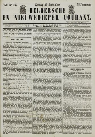 Heldersche en Nieuwedieper Courant 1870-09-25
