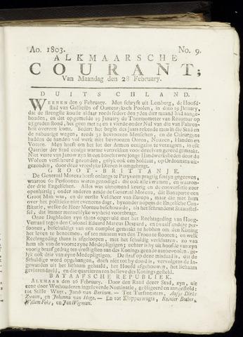 Alkmaarsche Courant 1803-02-28
