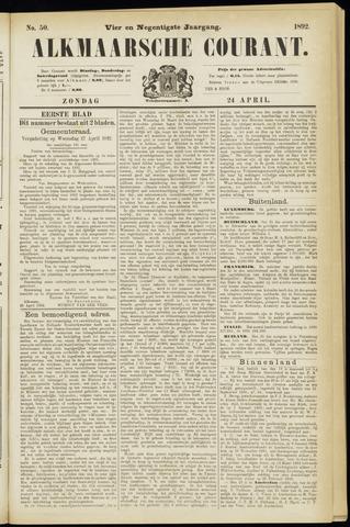 Alkmaarsche Courant 1892-04-24