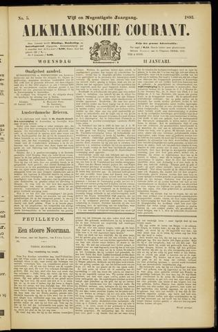 Alkmaarsche Courant 1893-01-11