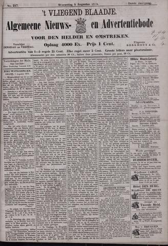 Vliegend blaadje : nieuws- en advertentiebode voor Den Helder 1875-08-04
