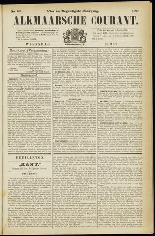 Alkmaarsche Courant 1892-05-18