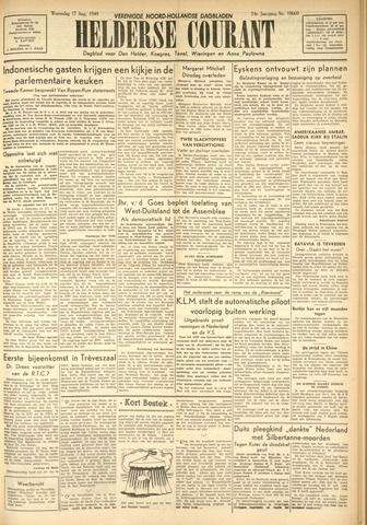 Heldersche Courant 1949-08-17