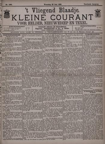 Vliegend blaadje : nieuws- en advertentiebode voor Den Helder 1886-06-23