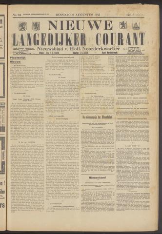 Nieuwe Langedijker Courant 1933-08-08