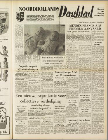 Noordhollands Dagblad : dagblad voor Alkmaar en omgeving 1954-06-18