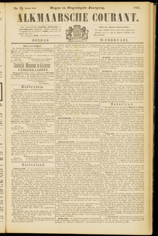 Alkmaarsche Courant 1897-02-28