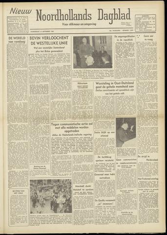 Nieuw Noordhollandsch Dagblad : voor Alkmaar en omgeving 1948-09-16