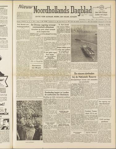 Nieuw Noordhollandsch Dagblad : voor Alkmaar en omgeving 1949-04-20