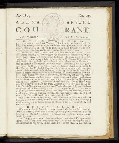 Alkmaarsche Courant 1807-11-23