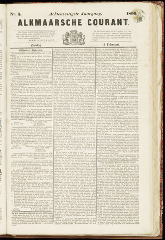 Alkmaarsche Courant 1866-02-04