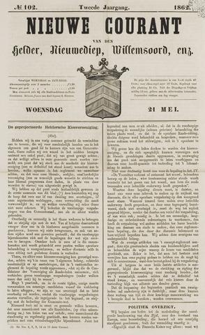 Nieuwe Courant van Den Helder 1862-05-21