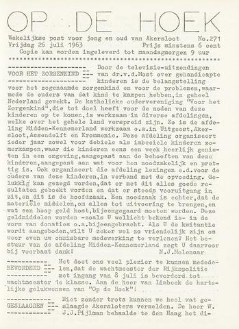 Op De Hoek, weekblad voor Akersloot 1963-07-26