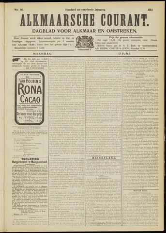Alkmaarsche Courant 1912-06-17