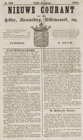 Nieuwe Courant van Den Helder 1865-07-08