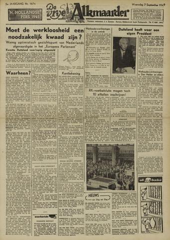 De Vrije Alkmaarder 1949-09-07