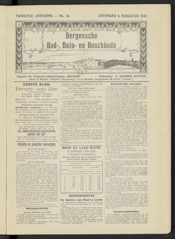 Bergensche bad-, duin- en boschbode 1921-08-06