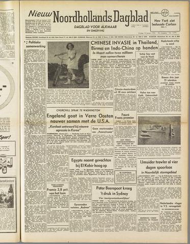 Nieuw Noordhollandsch Dagblad : voor Alkmaar en omgeving 1952-01-18