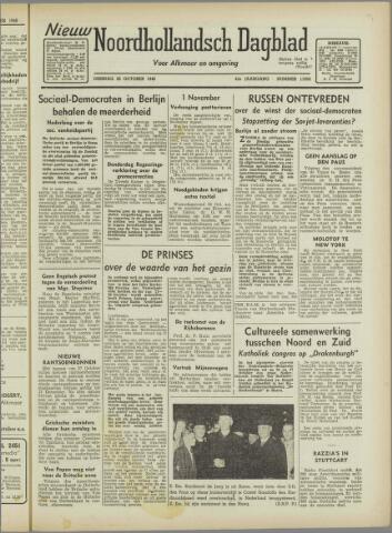 Nieuw Noordhollandsch Dagblad : voor Alkmaar en omgeving 1946-10-22