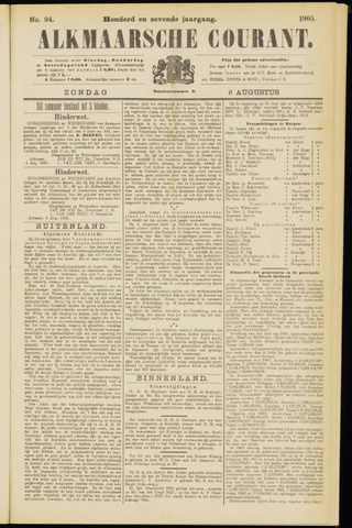 Alkmaarsche Courant 1905-08-06