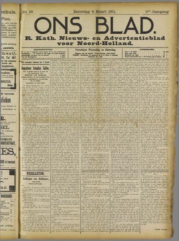 Ons Blad : katholiek nieuwsblad voor N-H 1911-03-04