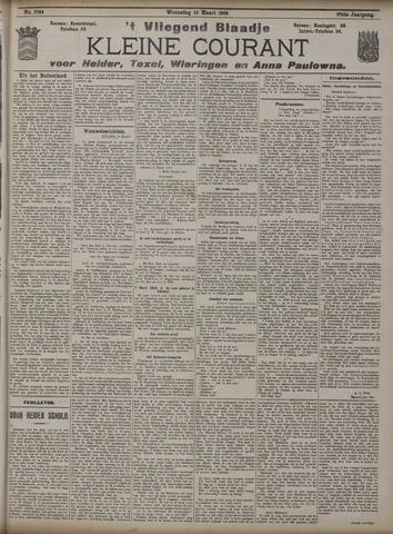 Vliegend blaadje : nieuws- en advertentiebode voor Den Helder 1909-03-10
