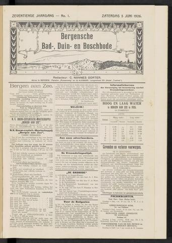 Bergensche bad-, duin- en boschbode 1926-06-05