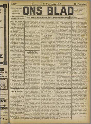 Ons Blad : katholiek nieuwsblad voor N-H 1916-11-23
