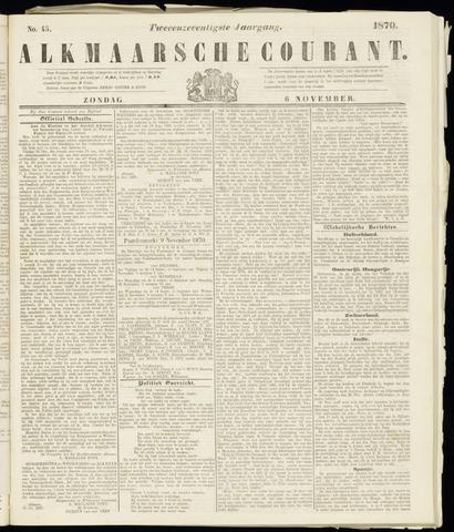 Alkmaarsche Courant 1870-11-06