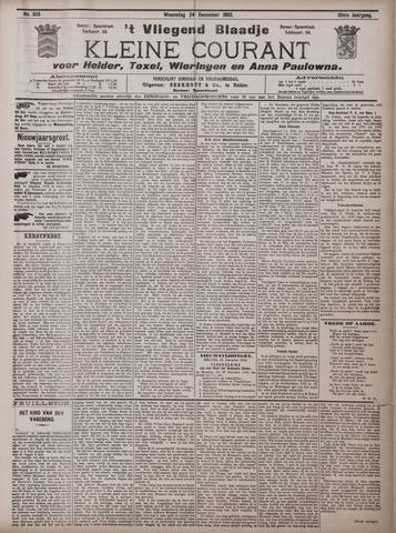 Vliegend blaadje : nieuws- en advertentiebode voor Den Helder 1902-12-24