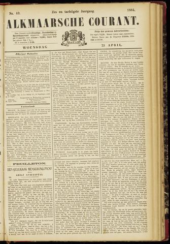 Alkmaarsche Courant 1884-04-23