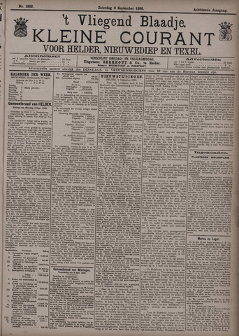Vliegend blaadje : nieuws- en advertentiebode voor Den Helder 1890-09-06