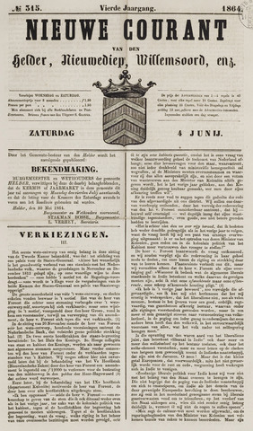 Nieuwe Courant van Den Helder 1864-06-04