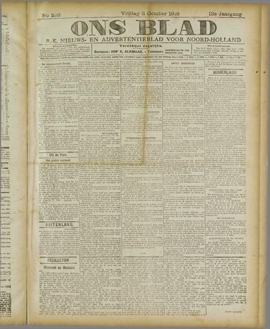 Ons Blad : katholiek nieuwsblad voor N-H 1919-10-03