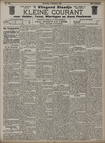Vliegend blaadje : nieuws- en advertentiebode voor Den Helder 1908-09-02