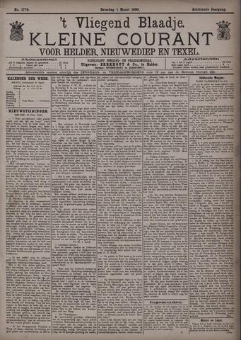 Vliegend blaadje : nieuws- en advertentiebode voor Den Helder 1890-03-01
