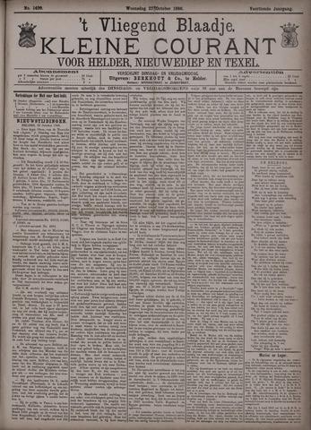 Vliegend blaadje : nieuws- en advertentiebode voor Den Helder 1886-10-27