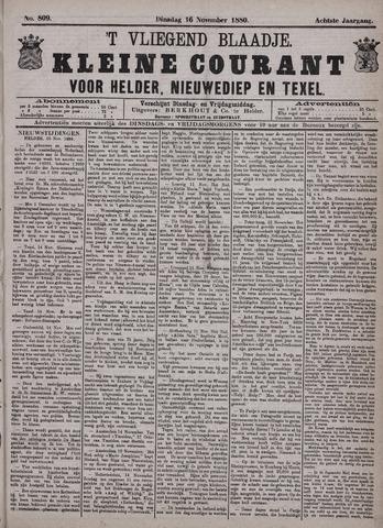 Vliegend blaadje : nieuws- en advertentiebode voor Den Helder 1880-11-16