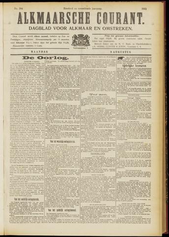 Alkmaarsche Courant 1915-08-09