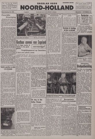 Dagblad Noord-Holland, Schager editie 1942-11-02