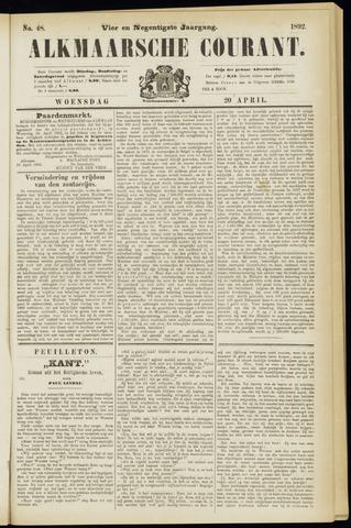 Alkmaarsche Courant 1892-04-20
