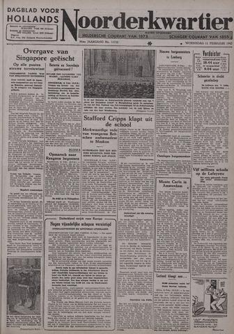 Dagblad voor Hollands Noorderkwartier 1942-02-11
