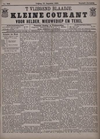 Vliegend blaadje : nieuws- en advertentiebode voor Den Helder 1881-08-12