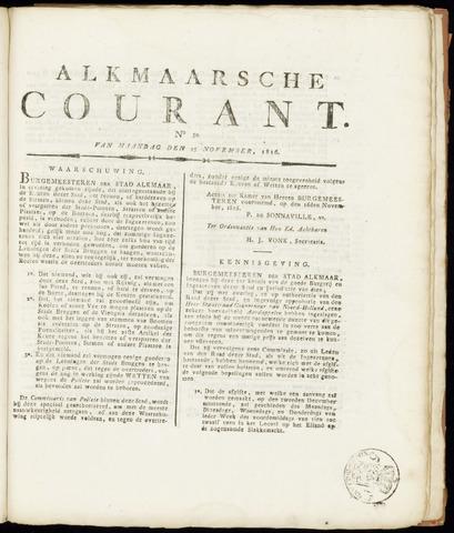 Alkmaarsche Courant 1816-11-25