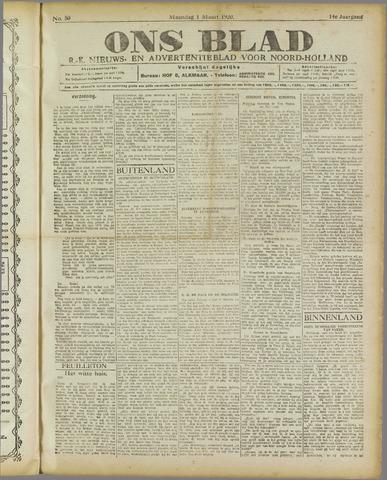 Ons Blad : katholiek nieuwsblad voor N-H 1920-03-01