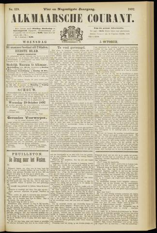 Alkmaarsche Courant 1892-10-05