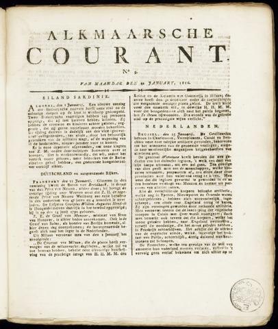 Alkmaarsche Courant 1816-01-22