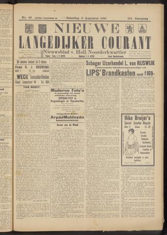 Nieuwe Langedijker Courant 1928-08-11