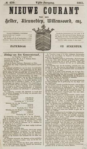 Nieuwe Courant van Den Helder 1865-08-12